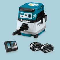 Toptopdeal-Makita DVC863LZ 36V LXT BL L-Class Dust Extractor & 2x 3 Ah Battery Charger
