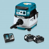 Toptopdeal-Makita DVC863LZ 36V LXT BL L-Class Dust Extractor & 2x 5 Ah Battery Charger
