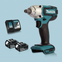 Totpopdeal Makita DTW190Z 18V LXT 1 2″ Square Impact Wrench & 2 x 3Ah Battery Charger