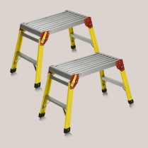 Toptopdeal Toptopdeal Excel 300 x 600mm Fibreglass Heavy Duty Platform Folding Hop Up Pack of 2