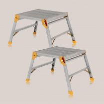 Toptopdeal Excel 600 x 600mm Heavy Duty Platform Work Bench Folding Hop Up Pack of 2