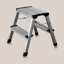 toptopdeal Excel Heavy Duty 2 Step HopUp Stool Ladder Aluminium Platform Folding