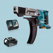 toptopdeal Makita DFR550Z LXT 18V Auto Feed Screwdriver & 1 x 5-0Ah Battery Charger
