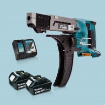 toptopdeal Makita DFR550Z LXT 18V Auto Feed Screwdriver & 2 x 3-0Ah Battery Charger