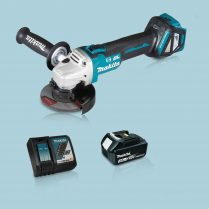 Toptopdeal Makita DGA463Z 18V LXT BL 115mm Angle Grinder & 1 x 3.0Ah Battery Charger
