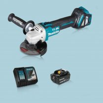 Toptopdeal Makita DGA463Z 18V LXT BL 115mm Angle Grinder & 1 x 5.0Ah Battery Charger
