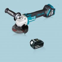 Toptopdeal Makita DGA463Z 18V LXT Cordless BL 115mm Angle Grinder & 1 x 3.0Ah Battery
