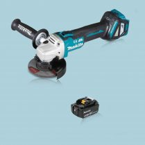 Toptopdeal Makita DGA463Z 18V LXT Cordless BL 115mm Angle Grinder & 1 x 5.0Ah Battery