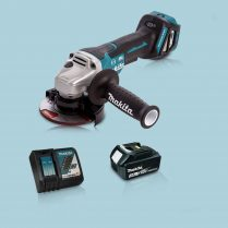 Toptopdeal Makita DGA467Z 18V LXT BL 115mm Angle Grinder & 1 x 3.0Ah Battery Charger