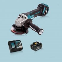 Toptopdeal Makita DGA467Z 18V LXT BL 115mm Angle Grinder & 1 x 5.0Ah Battery Charger