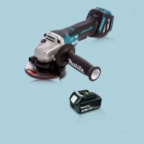 Toptopdeal Makita DGA467Z 18V LXT Cordless BL 115mm Angle Grinder & 1 x 3.0Ah Battery