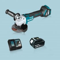 Toptopdeal Makita DGA513Z 18V LXT BL 125mm Angle Grinder & 1 x 3.0Ah Battery Charger