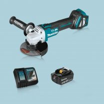 Toptopdeal Makita DGA513Z 18V LXT BL 125mm Angle Grinder & 1 x 5.0Ah Battery Charger