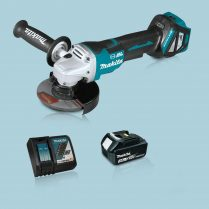 Toptopdeal Makita DGA517Z 18V LXT BL 125mm Angle Grinder & 1 x 3.0Ah Battery Charger