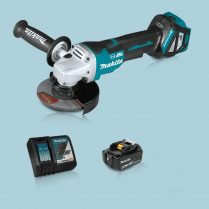 Toptopdeal Makita DGA517Z 18V LXT BL 125mm Angle Grinder & 1 x 5.0Ah Battery Charger