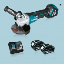 Toptopdeal Makita DGA517Z 18V LXT BL 125mm Angle Grinder & 2 x 3.0Ah Battery Charger