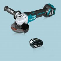 Toptopdeal Makita DGA517Z 18V LXT Cordless BL 125mm Angle Grinder & 1 x 3.0Ah Battery