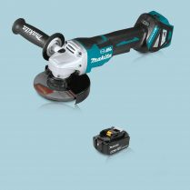 Toptopdeal Makita DGA517Z 18V LXT Cordless BL 125mm Angle Grinder & 1 x 5.0Ah Battery