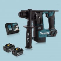 Toptopdeal Makita DHR171Z 18V SDS+ BL 17mm R.Hammer Drill & 2 x 5.0Ah Battery Charger