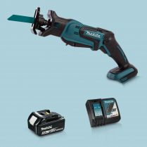 toptopdeal Makita DJR183Z 18V LXT Li-Ion Reciprocating Saw & 1 x 5-0Ah Battery Charger