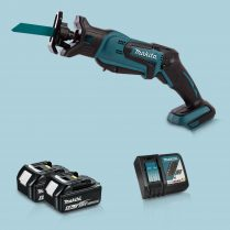 toptopdeal Makita DJR183Z 18V LXT Li-Ion Reciprocating Saw & 2 x 5-0Ah Battery Charger