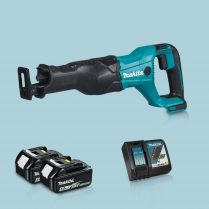 toptopdeal Makita DJR186Z 18V LXT Reciprocating Sabre Saw & 2 x 5-0Ah Battery Charger