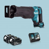toptopdeal Makita DJR187Z 18V LXT BL Reciprocating Saw & 2 x 5-0Ah Battery Charger