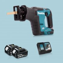 toptopdeal Makita DJR188Z 18V LXT Li BL Reciprocating Saw & 2 x 5-0Ah Battery Charger