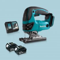 Toptopdeal Makita DJV180Z 18V LXT Cordless Compact Jigsaw & 2 x 3.0Ah Battery Charger
