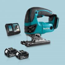 Toptopdeal Makita DJV180Z 18V LXT Cordless Compact Jigsaw & 2 x 5.0Ah Battery Charger