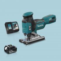 toptopdeal Makita DJV181Z 18v LXT Barrel Grip BL Jigsaw & 1 x 5 0Ah Battery Charger