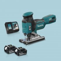 toptopdeal Makita DJV181Z 18v LXT Barrel Grip BL Jigsaw & 2 x 5 0Ah Battery Charger