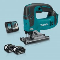 toptopdeal Makita DJV182Z 18V LXT Li BL Top Handle Jigsaw & 2 x 5 0Ah Battery Charger