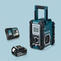 toptopdeal-Makita-DMR106-Jobsite-Radio-Bluetooth-&-USB-Blue-&-1-x-5-Ah-Battery-Charger