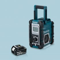 toptopdeal-Makita-DMR106-Jobsite-Radio-Bluetooth-&-USB-Charger-Blue-&-1-x-5-Ah-Battery