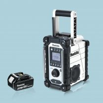 toptopdeal Makita DMR107W 10-08-18V LXT -CXT Job Site White Radio & 1 x 5-0Ah Battery