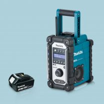 toptopdeal Makita DMR109 18V LXT-CXT Li-ion Job Site Blue Radio & 1 x 3-0Ah Battery