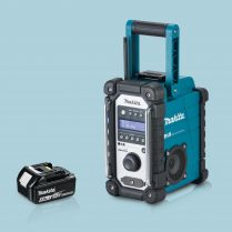 toptopdeal Makita DMR109 18V LXT-CXT Li-ion Job Site Blue Radio & 1 x 5-0Ah Battery
