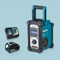 toptopdeal Makita DMR109 LXT-CXT Li-ion Job Site Blue Radio & 1 x 3-Ah Battery Charger