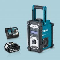 toptopdeal Makita DMR109 LXT-CXT Li-ion Job Site Blue Radio & 1 x 5-Ah Battery Charger