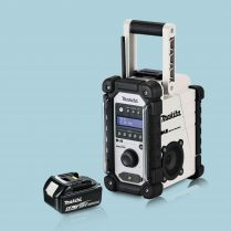 toptopdeal Makita DMR109W 18v LXT-CXT LI-ion Job Site Radio White & 1 x 5-0Ah Battery