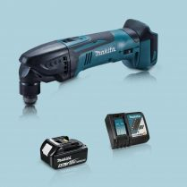 toptopdeal Makita DTM50Z 18V Oscillating Multi Tool Cutter & 1 x 5 0Ah Battery Charger