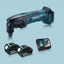 toptopdeal Makita DTM50Z 18V Oscillating Multi Tool Cutter 2 x 3 0Ah Battery Charge