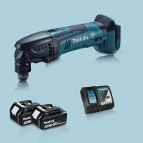 toptopdeal Makita DTM50Z 18V Oscillating Multi Tool Cutter & 2 x 5 0Ah Battery Charger