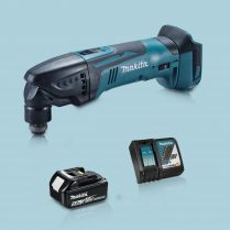 toptopdeal Makita DTM51Z 18V Oscillating Multi Tool Cutter & 1 x 5-0Ah Battery Charger
