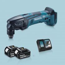 toptopdeal Makita DTM51Z 18V Oscillating Multi Tool Cutter & 2 x 5 0Ah Battery Charger