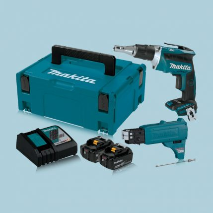toptopdeal-makita-DFS452TJX2-18V-Cordless-Brushless-Screwdriver-and-Autofeed-attachment-5-0Ah-Kit