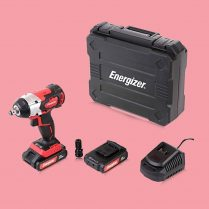Toptopdeal Energizer EZCCB18V2B2A Cordless Impact Wrench 18V Brushless 320 Nm with 2.0Ah Battery Kit