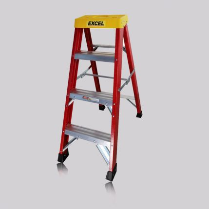 Excel 0-76M Fiberglass Step Ladder 3 Tread Heavy Duty Pro Series EX3STEP