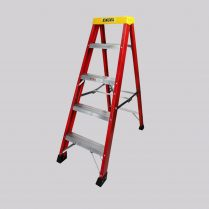 Excel 1-03M Fiberglass Step Ladder 4 Tread Heavy Duty Pro Series EX4STEPFL